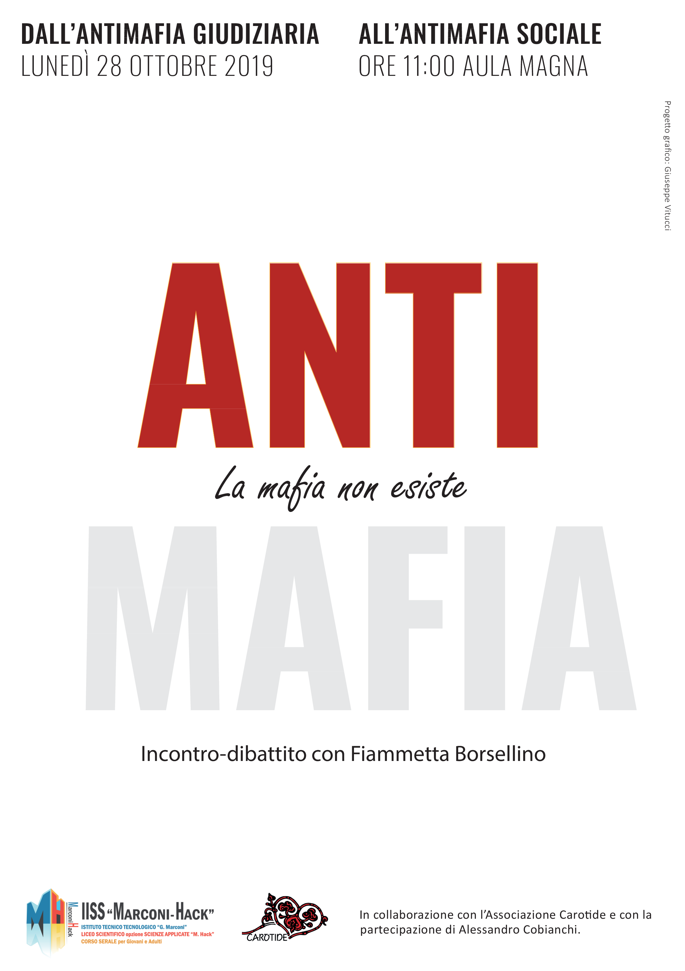Locandina evento antimafia